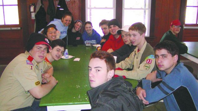 Jewish Scouts at a gathering in Riverhead, L.I. Jewish Scouts chapters nationwide voted informally to end the gay ban.
