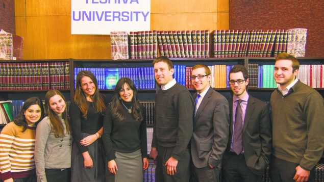 Seformim for Sandy: YU students donate proceeds from annual book sale to storm-damaged synagogues. Photo courtesy YU
