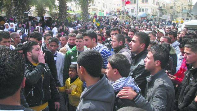 Thousands of Palestinians gathered to mourn Arafat Jaradat and call for a new intifada. Joshua Mitnick