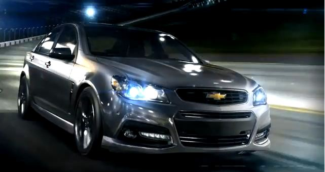 New Chevy SS (screen shot: Chevrolet SS commercial, YouTube)