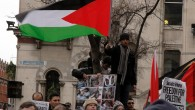 Demonstrators in Dublin protest Israeli military operations in Gaza in early