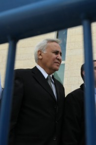 Former president Moshe Katsav leaves the Supreme Court in Jerusalem on November 10, 2011 after being found guilty of rape. (photo credit: Nati Shohat/ Flash90)