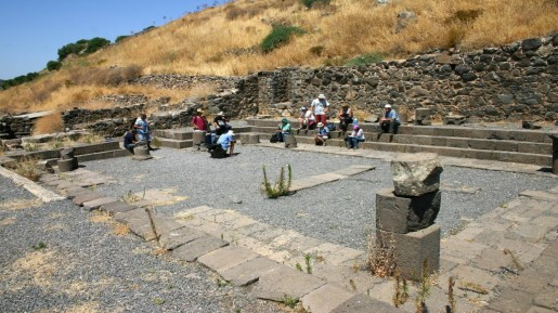Ruins of the Gamla synagogue (photo credit: Shmuel Bar-Am)