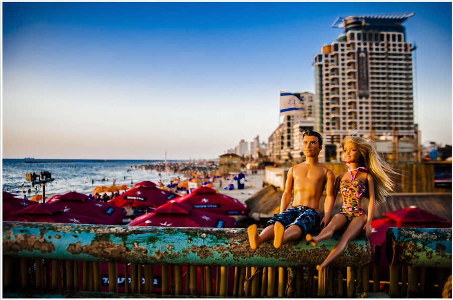 'In Tel Aviv, Life is a Beach' (photo credit: Enrico Pescaninin and Maria Giovanna Callea)