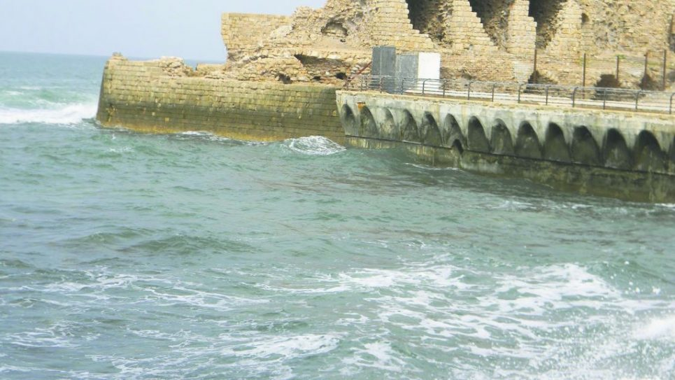 The seaport at Acre dates back to the Crusader era, but is still being outfitted with modern facilities. Adam Dickter