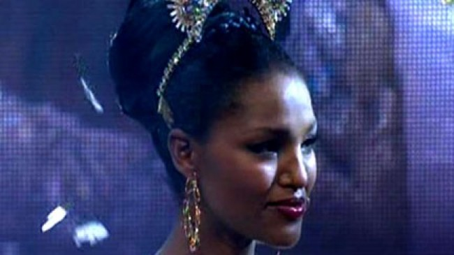 Yityish Aynaw, Miss Israel 2013 (photo credit: Channel 2 screenshot)