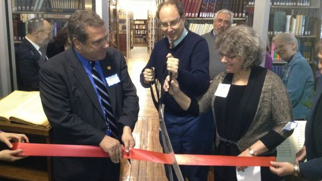 From left to right, Yonkers Mayor Mike Spano, Chuck Lesnick, Ora Horn Prouser. Photo courtesy Academy of Jewish Religion