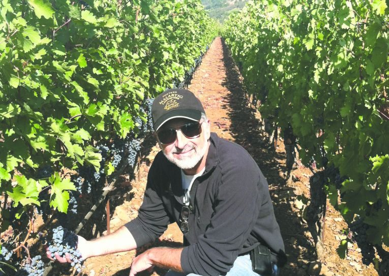 Jeff Morgan in his Covenant Wines vineyards in Napa Valley, CA. Photo courtesy Covenant Wines.