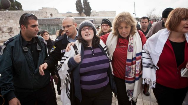 Ten women were arrested Monday for praying at the Wall in prayer shawls. Photo courtesy Women of the Wall by Michal Fattal