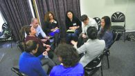 One of the breakout sessions at Sunday's meeting of Moatza at the 92nd Street Y. Photos by Gili Getz