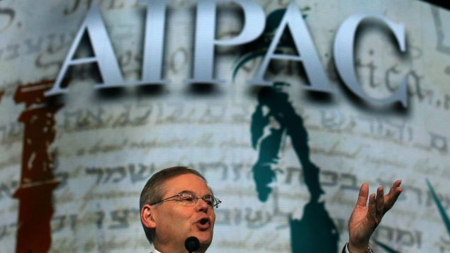 U.S. Sen. Robert Menendez, a Democrat of New Jersey, addresses AIPAC on March 5. Getty Images