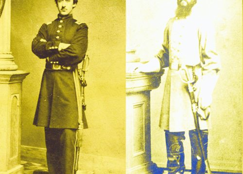 War in the family: Brothers Edward Jonas, a Union soldier, and Charles H. Jonas, who fought for the Confederacy.