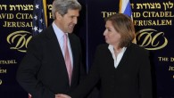 John Kerry and Tzipi Livni in Jerusalem (photo credit: Matty Stern/US Embassy/Flash90)