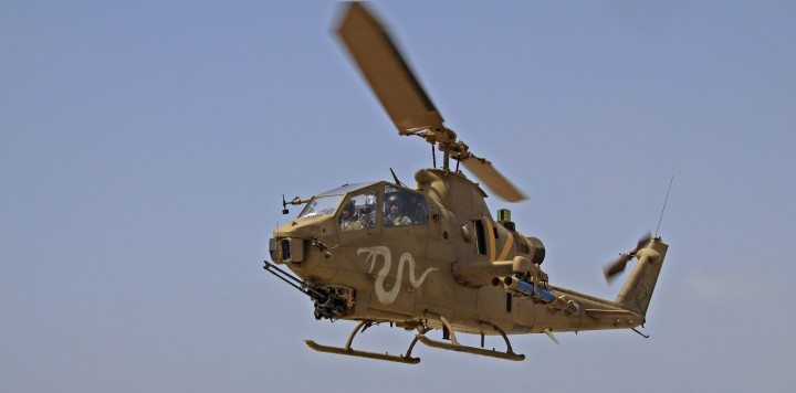 An IAF Cobra AH-1 attack helicopter (photo credit: Ofer Zidon/Flash90)