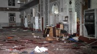 In this photo released by the Syrian official news agency SANA, the Eman Mosque is seen destroyed after a suicide bomber blew himself up at the Mazraa district, in Damascus, Syria, Thursday, March 21, 2013.  (photo credit: AP/SANA)
