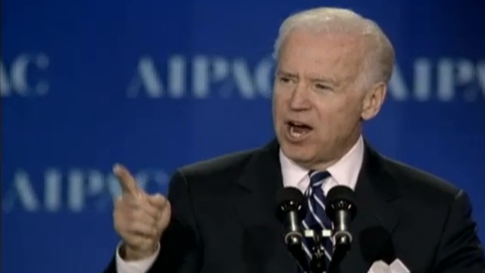 Vice President Joe Biden speaks to AIPAC on March