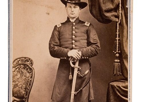 Captain Jacobs Jacob 83rd NY Infantry, wounded at Gettysburg. Photo courtesy collection of Robert Marcus
