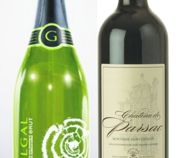 Two of the author's top picks, a white and a red, for budget-priced Pesach wines.