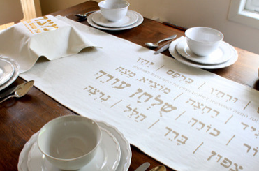Umbrella's runner, great for the seder or Passover breakfast (Courtesy Umbrella)