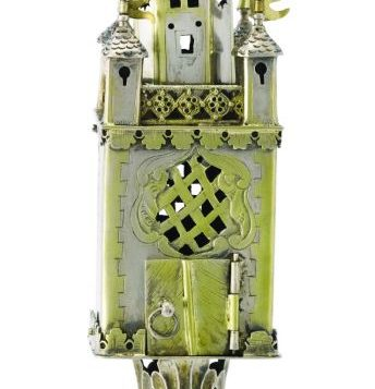 A German parcel-gilt silver spice tower is one of 386 items to be auctioned. Photo courtesy Sotheby's