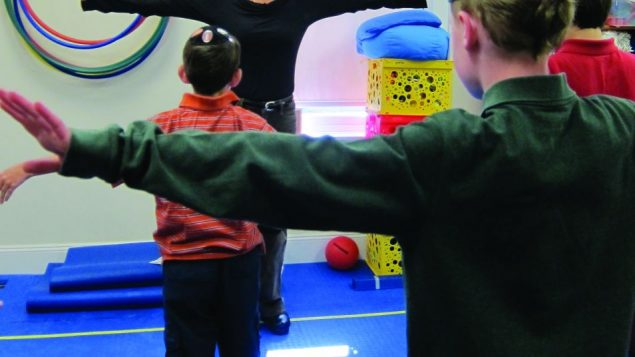 "Children in Carmel's PALS program have access to a ""sensory gym."" Photo courtesy Carmel Academy"