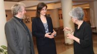 Jessica Minnen, discussed her project with Rabbi Samuel Barth and Rabbi and Rabbi Judith Hauptman. Shulamit Seidler-Feller