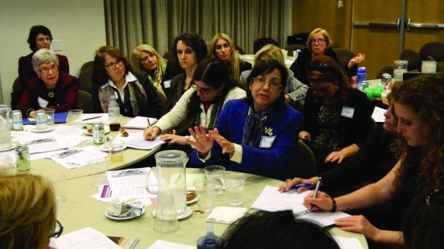 Participants at UJA-Federation conference on human trafficking discuss ways to combat prostitution. Photo courtesy UJA-Fed NY