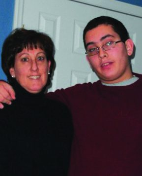 The author with her son Jacob.