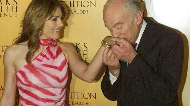 Cosmetics tycoon Leonard Lauder and actress Elizabeth Hurley. Getty Images