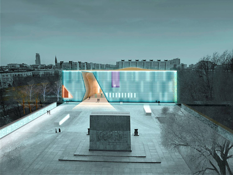 Warsaw's nascent Museum of the History of Polish Jews. (photo credit: courtesy)
