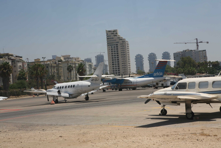 Sde Dov Airport in Tel Aviv. (photo credit: Yossi Zamir/Flash90)