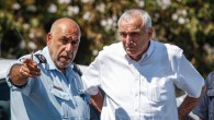 Niso Shaham (left) and Yitzhak Aharonovich attend a terror attack simulation on the Jerusalem Light Train on July 25, 2012 (photo credit: Noam Moskowitz/Flash90)