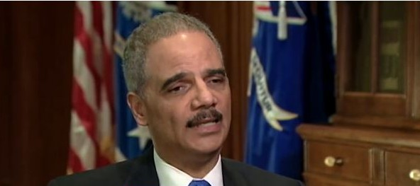 US Attorney General Eric Holder, February 2013. (screen capture: Youtube/ABCNews)