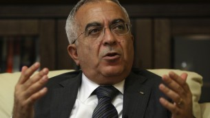 PA Prime Minister Salam Fayyad in June 2011 (photo credit: AP/Majdi Mohammed)