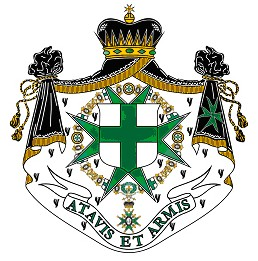 """The order's motto means, """"With ancestors and arms"""" (Courtesy of the Order of St. Lazarus)"""