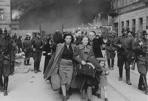Nazi liquidation of the Warsaw Ghetto (photo credit: Courtesy of USHMM)