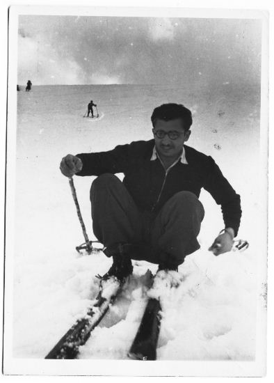 Isaac on Mt. Lebanon, around 1949 (Courtesy of Isaac Shushan)