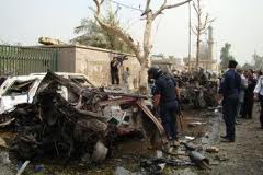 The aftermath of the 2009 bombing outside the church (photo: Courtesy)