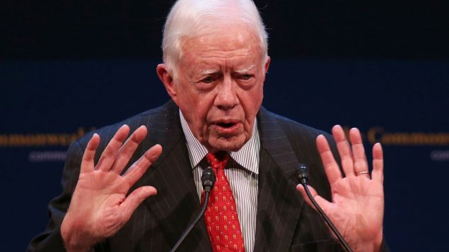 """Student honor for Carter """"in no way represents a university position on his views,"""" says YU's president. Getty Images"""