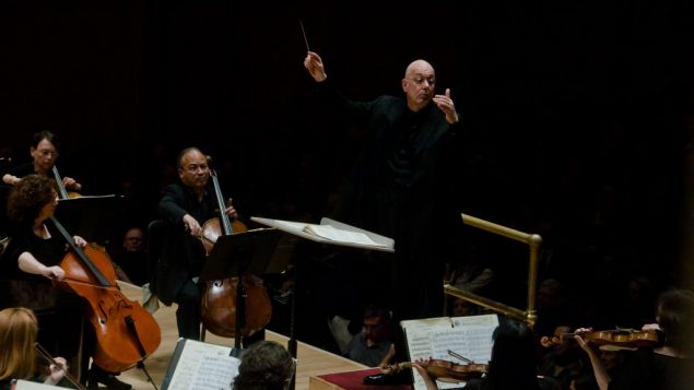 Leon Botstein conducting the American Symphony Orchestra. Jito Lee