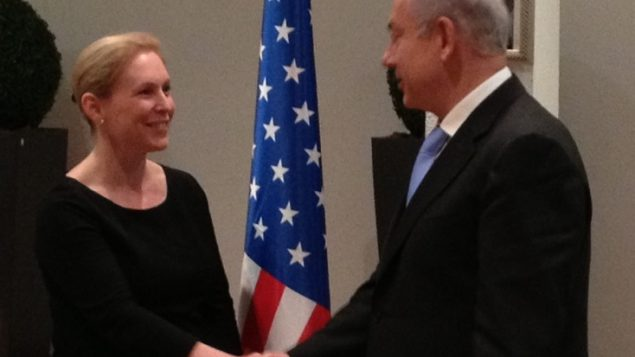 Sen. Kirsten Gillibrand meets with Prime Minister Netanyahu in Jerusalem last week. Photo courtesy Sen. Gillibrand