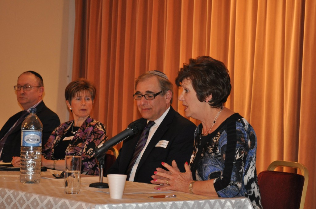 Former United Synagogue head Simon Hochhauser and New West End Synagogue's Rabbi Geoffrey Shisler made up the male contingent on the US Women panel. (photo credit: courtesy)