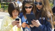 Not checking their e-mail: sixth-graders play Jewish Time Jump. Photo courtesy Converjent