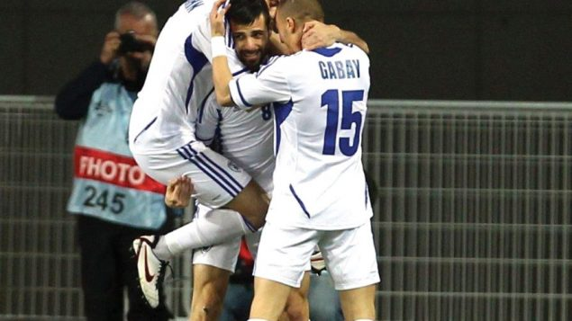 Israel's national soccer team, which features Elad Gabay, and Maor Melikson.