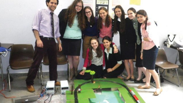 Noam Weinberger and a team of eight Ma'ayanot sophomores will represent U.S. day school students. Courtesy of Ma'ayanot