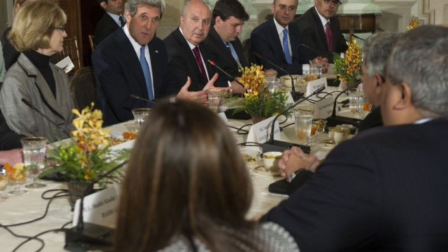 John Kerry met with the Arab League on April 29 at the White House. Getty Images
