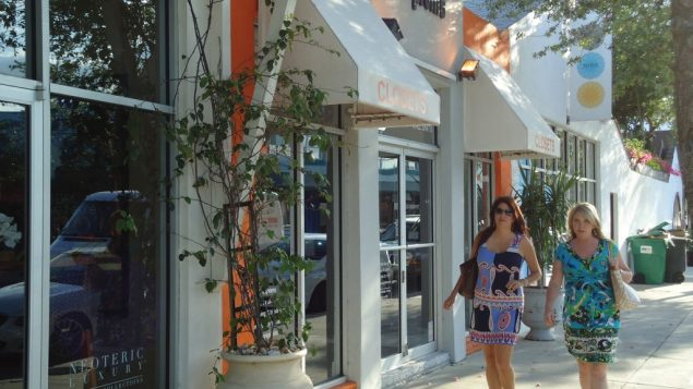 Shoppers in the Miami Design District northeast of downtown. Hilary Larson