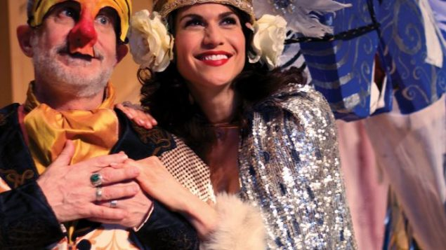 """Scenes from the rollicking """"Megile of Itzik Manger,"""" with Stephen Mo Hannan and Stacey Harris, . Photos by Crystal Arnette"""