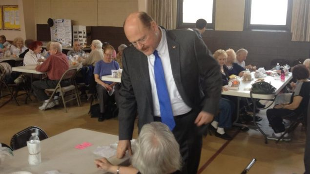 The new La Guardia?: Joe Lhota says he won't use Jewish heritage to appeal for community's support. Lhota campaign photo