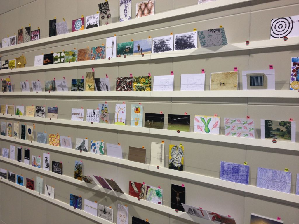 A view of the Postcard project (photo credit: Jessica Steinberg/Times of Israel)
